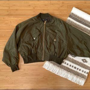 Olive Dolman Bomber Jacket